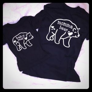 baby bear & momma bear matching tops ❤️